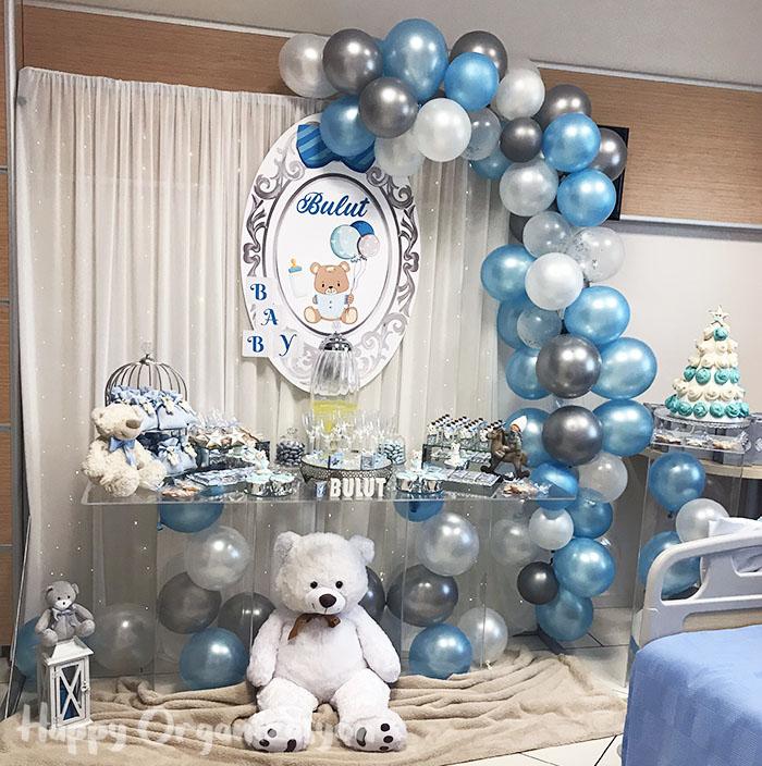 erkek bebek ayıcık konsept doğum odası süsleme