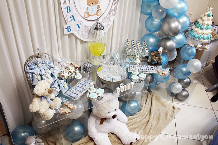 erkek bebek ayıcık konsept hastane doğum odası süsleme