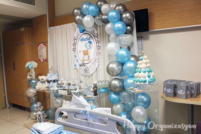 erkek bebek ayıcık konsept hastane odası süsleme