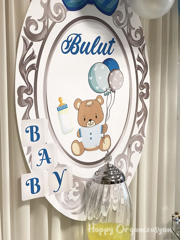 erkek bebek ayıcık tema hastane odası süsleme